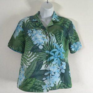 🍄 Tommy Bahama Women's Shirt 100% Silk